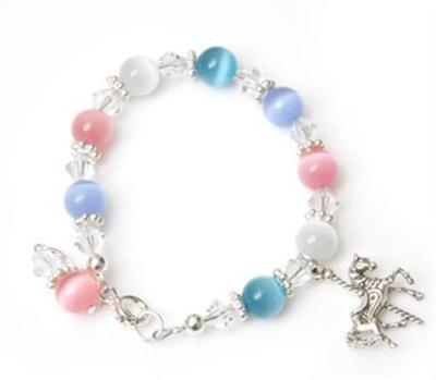 Candy Cats Eye Carousel Charm Bracelet