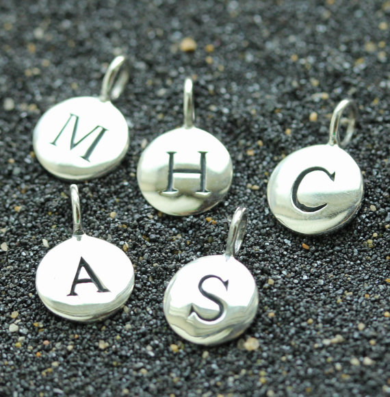 Sterling Siver Initial Monogram Charms