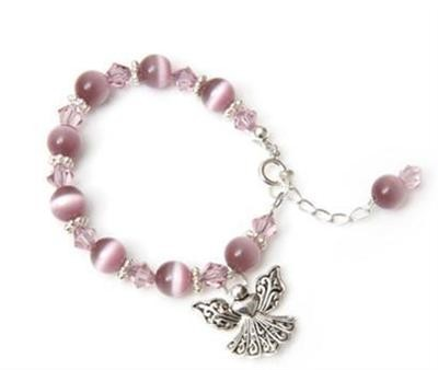 Candy Angel Charm Cats Eye Bracelet