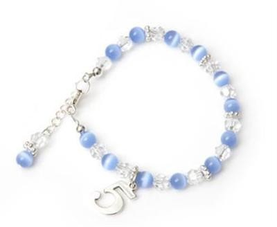 Candy Cats Eye Birthday Charm Bracelet