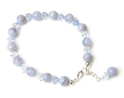 Chalcedony Crystal Drop Bracelet