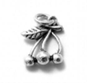 Cherries Charm Sterling Silver