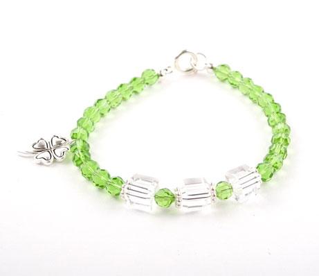 Crystal Lucky Clover Charm Bracelet