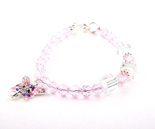Crystal Fairy Charm Bracelet