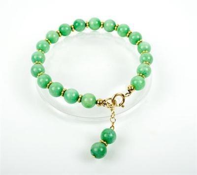 Green Jade Gold Vermeil Bracelet