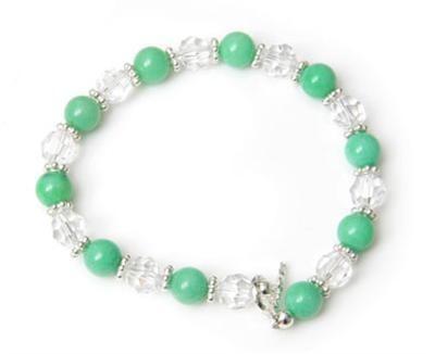 Semi Precious Crystal Toggle Bracelet