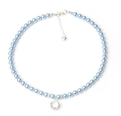 Crystal Pearl Tiara Charm Necklace