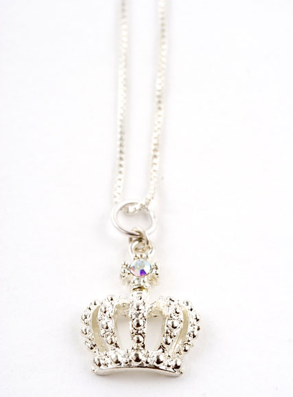 Crown Charm Necklace