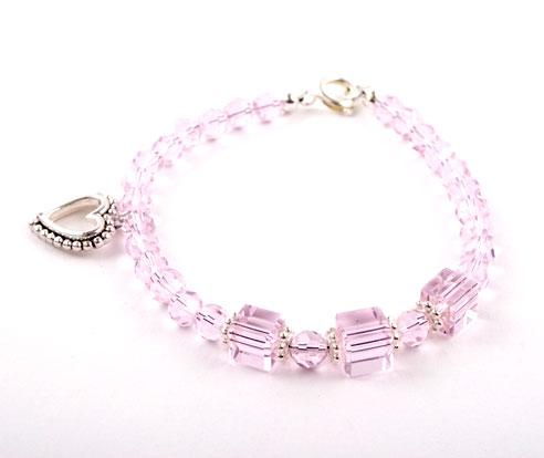 Crystal Heart Charm Bracelet