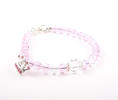 Crystal Silver Crown Bracelet