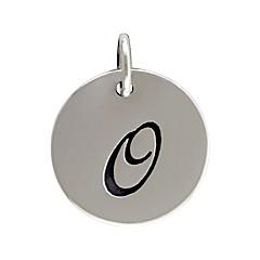 Sterling Silver Initial Alphabet O Letter Script Charms