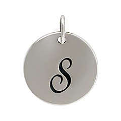 Sterling Silver Initial Alphabet S Letter Script Charms