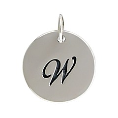 Sterling Silver Initial Alphabet W Letter Script Charms