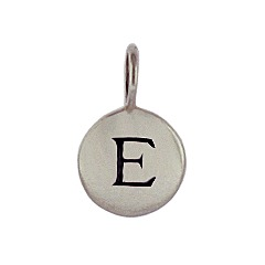 Sterling Silver Initial E Alphabet Letter Stamped Monogram Charm