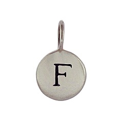 Sterling Silver Initial F Alphabet Letter Stamped Monogram Charm