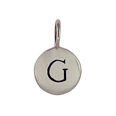 Sterling Silver Initial G Alphabet Letter Stamped Monogram Charm
