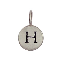 Sterling Silver Initial H Alphabet Letter Stamped Monogram Charm