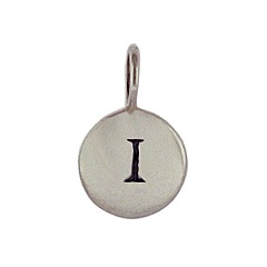 Sterling Silver Initial I Alphabet Letter Stamped Monogram Charm