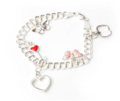 Butterfly Sterling Silver Charm Bracelet