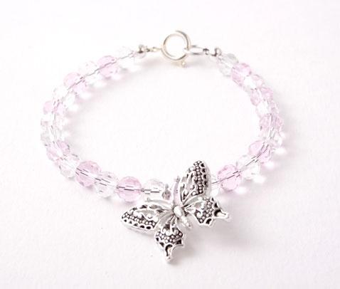 Crystal Butterfly Charm Bracelet