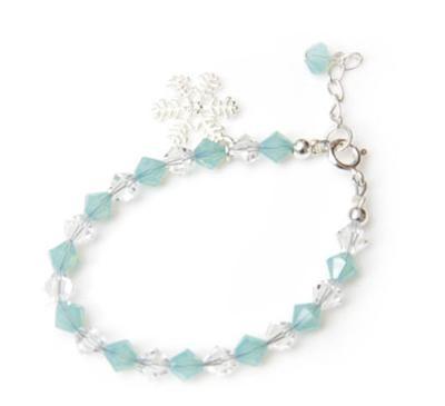Swarovski Crystal Snow Flake Charm Bracelet