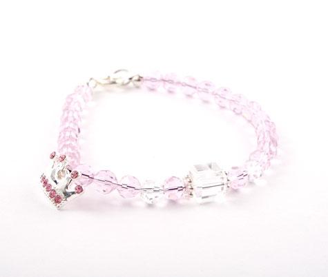 Crystal Silver Crown Bracelet