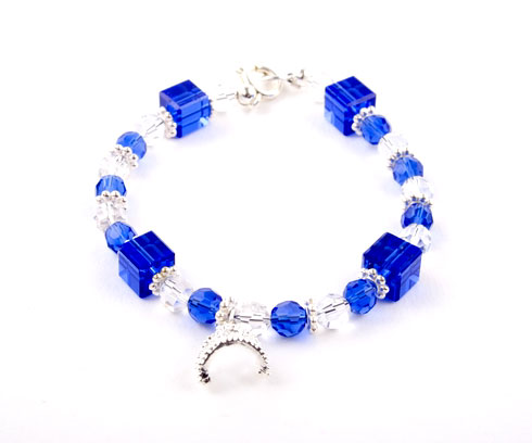 Crystal Tiara Charm Bracelet