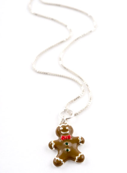 Ginger Bread Boy Charm Necklace