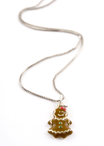Gingerbread Girl Charm Necklace