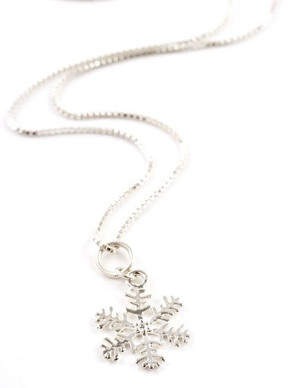 Snow Flake Charm Necklace
