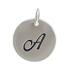 Sterling Silver Initial Alphabet A Letter Script Charms