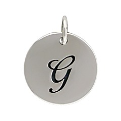 Sterling Silver Initial Alphabet G Letter Script Charms