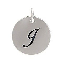 Sterling Silver Initial Alphabet J Letter Script Charms