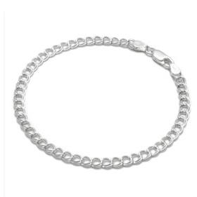 Sterling Silver Plain Charm Bracelet