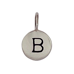 Sterling Silver Initial B Alphabet Letter Stamped Monogram Charm