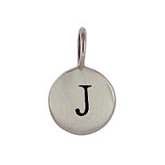 Sterling Silver Initial J Alphabet Letter Stamped Monogram Charm