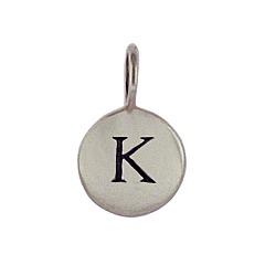 Sterling Silver Initial K Alphabet Letter Stamped Monogram Charm