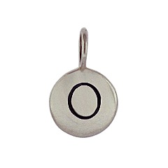 Sterling Silver Initial O Alphabet Letter Stamped Monogram Char