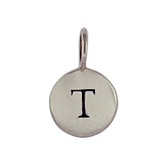 Sterling Silver Initial L Alphabet Letter Stamped Monogram Charm