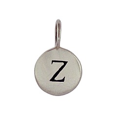 Sterling Silver Initial Z Alphabet Letter Stamped Monogram Charm